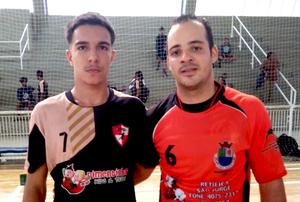 João Pedro, do Praia Grande, e Adriano, Diadema, artilheiros do jogo. (foto Divulgação LPHB)