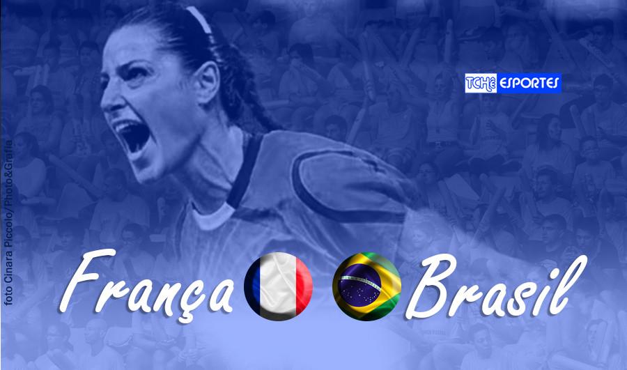 França vs Brasil (foto Cinara Piccolo | arte Tchê Esportes)