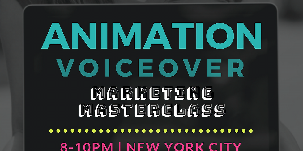 Voiceover for Animation: Marketing Masterclass