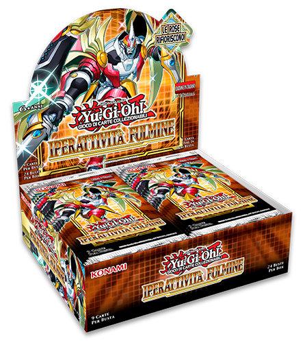 BOX YU-GI-OH! IPERATTIVITA' FULMINE DISPLAY 24 BUSTE