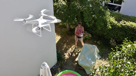 Dokumentation Fassadenzustand mit der Drohne