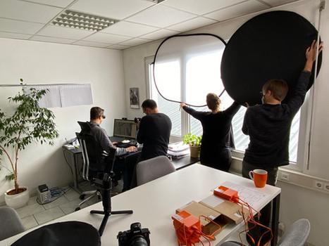 Filmaufnahmen im geoplana-Büro