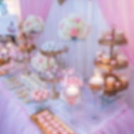 Sweet Table Bapteme Mariage Rose Gris doré or baroque chic