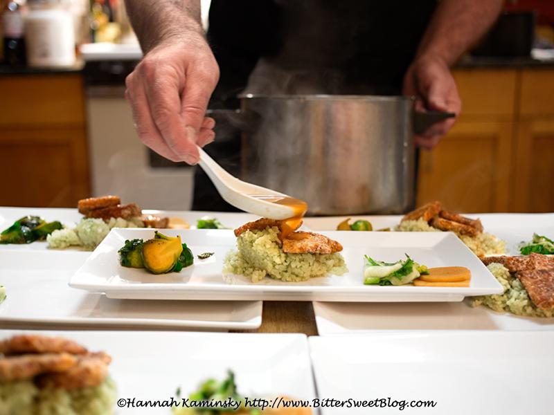 Plating at dinner concert event