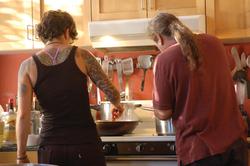 Chef Phil and sous chef Cori