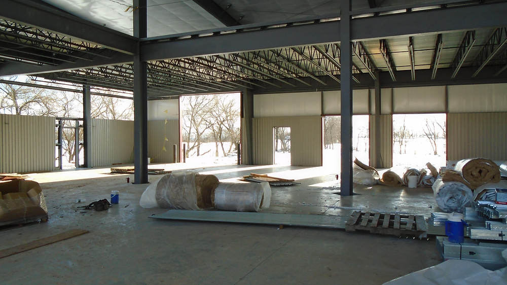 Interior of the General Construction Project at Raber's Tires