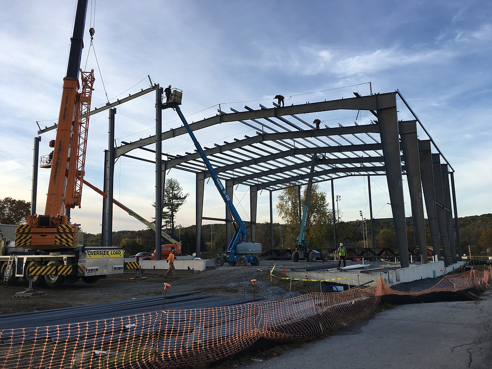 Image of Steel Structure being erected