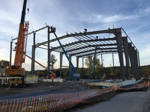 Steel Building in Thorndale Pa Under Way