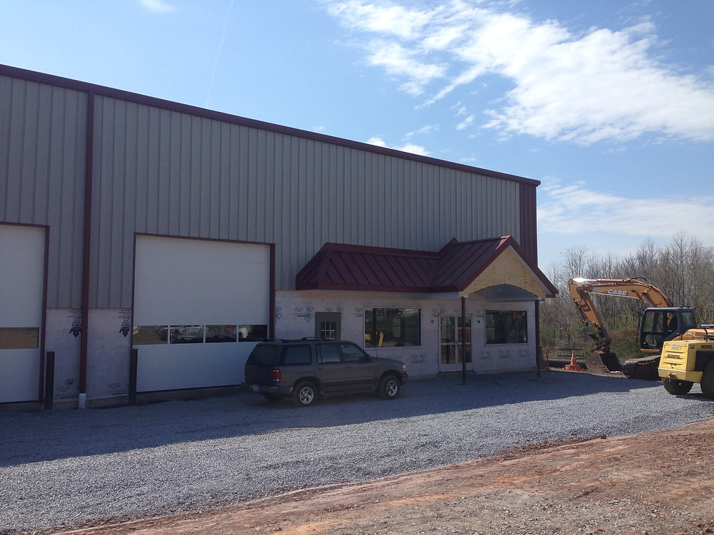 Pre-Engineered Steel Building at Raber's Tires - Front