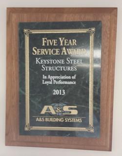 5 Year Service Award