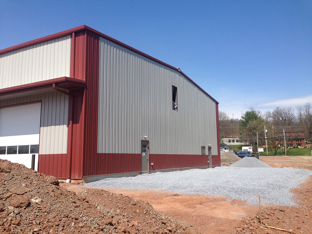Pre-Engineered Steel Building at Raber's Tires - Side
