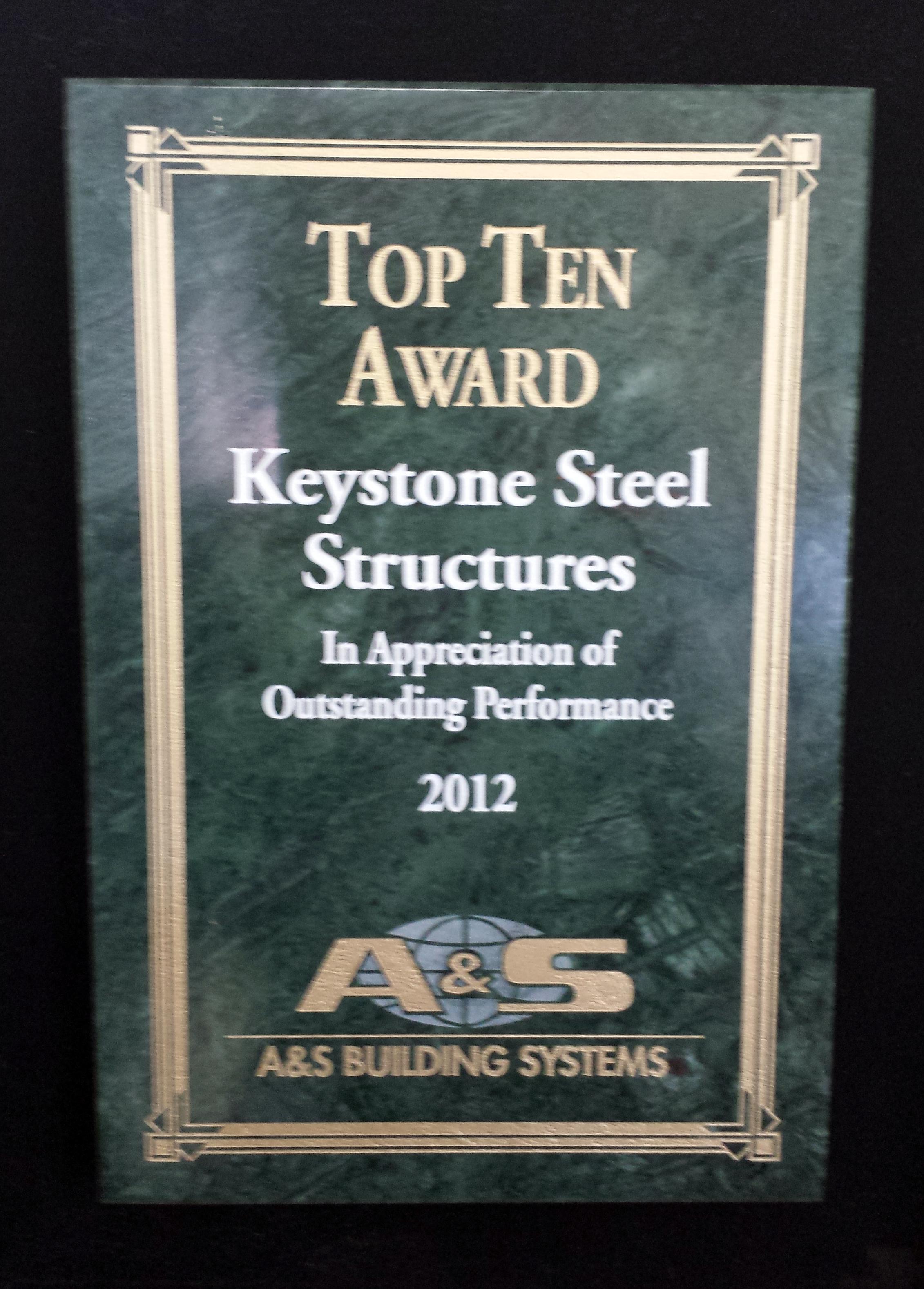 2012 Top Ten Award