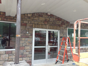 Masonry and Canopy Progress at Raber's Tires
