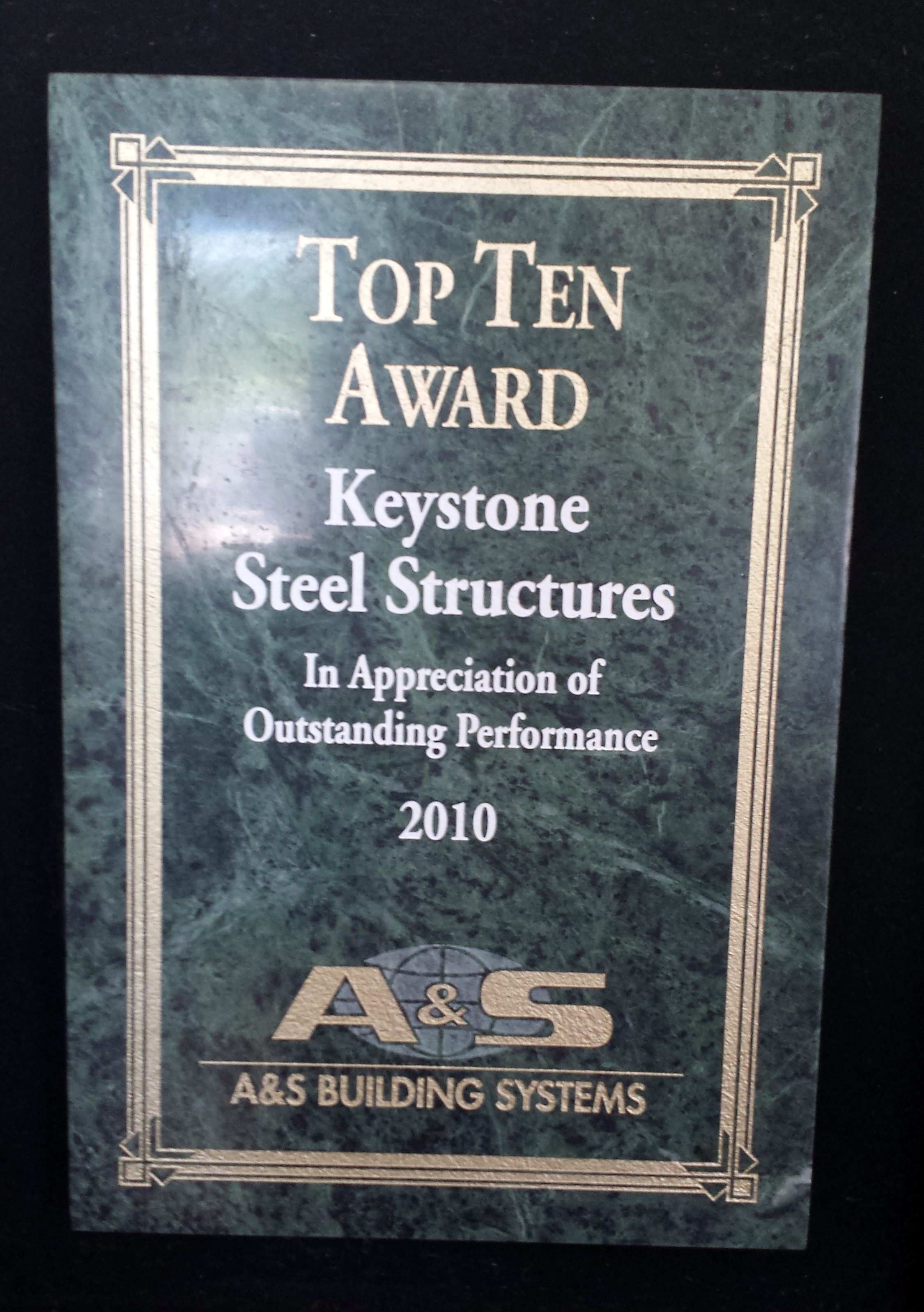 2010 Top Ten Award