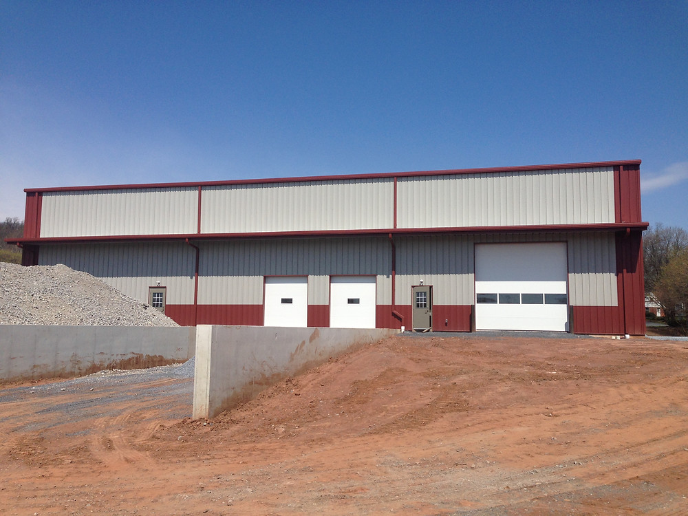 Pre-Engineered Steel Building at Raber's Tires - Back