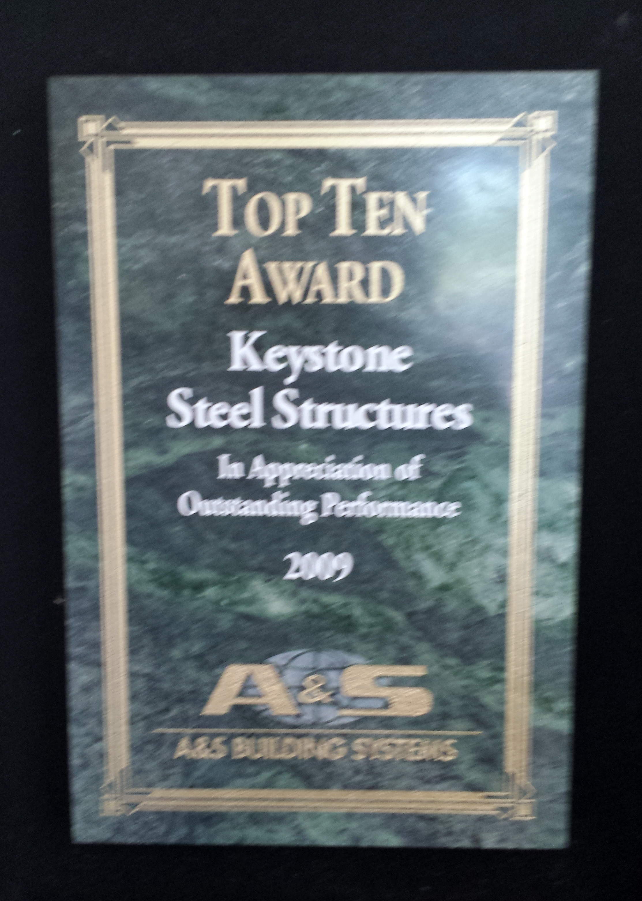 2009 Top Ten Award