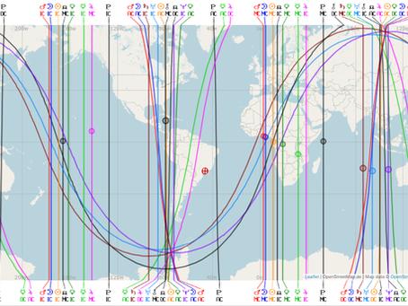 Até quantos Km uma linha astrocartográfica atua?