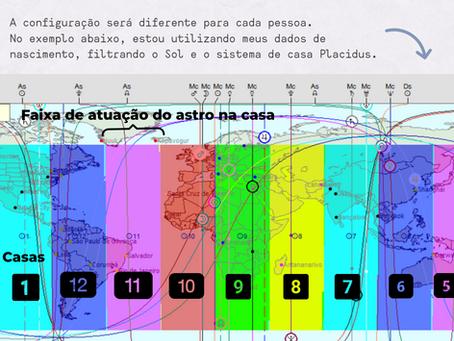Em qual casa o seu Sol cai em cada país - Astrocartografia