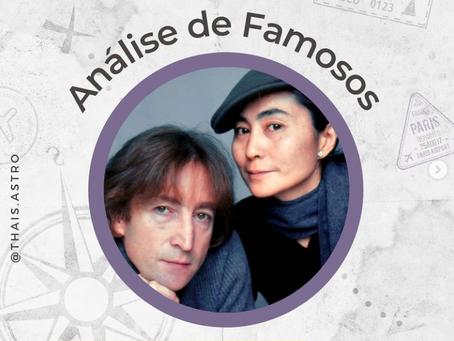 Astrocartografia de famosos - Yoko Onno e John Lennon