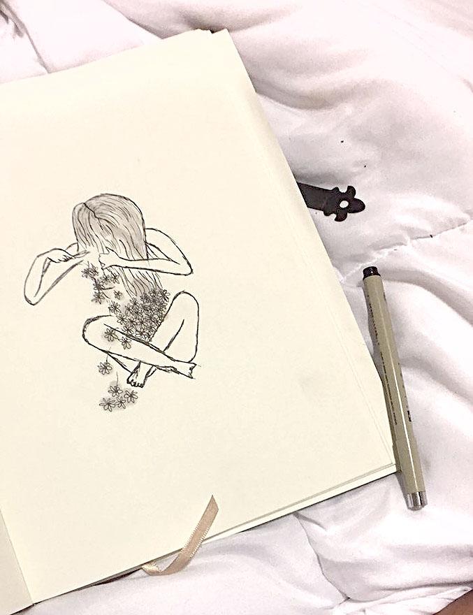 Free Hand Pen Sketch