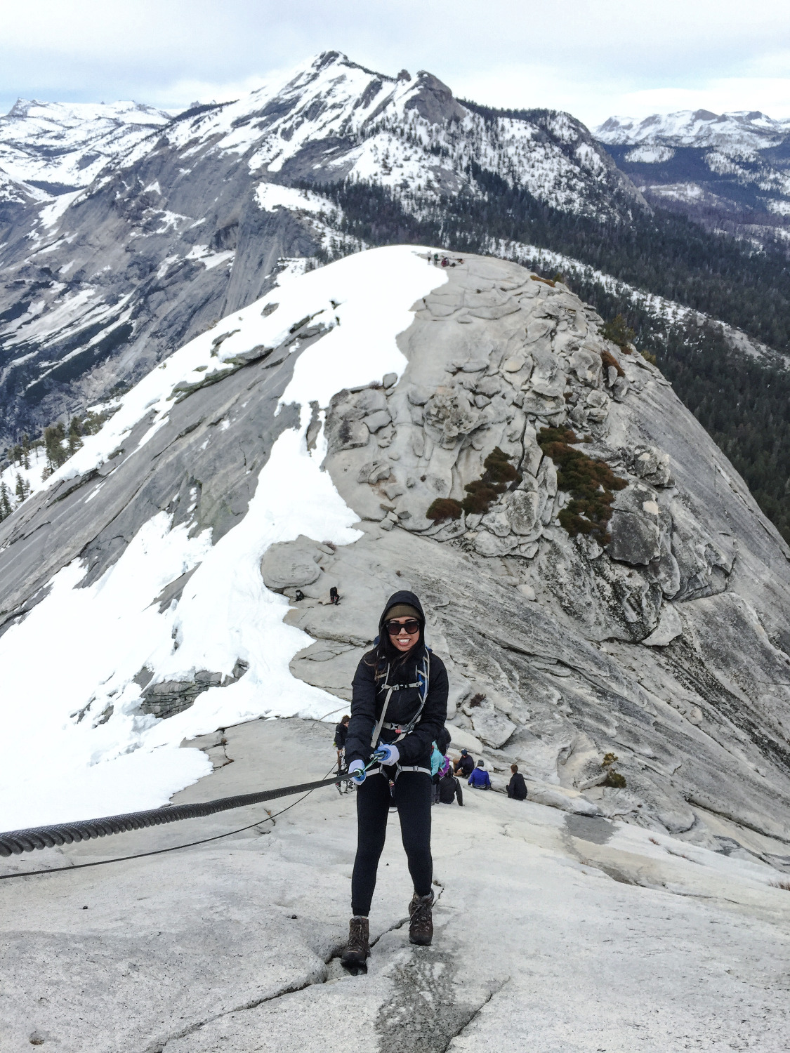 Half Dome, Cables down, Yosemite