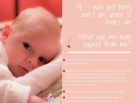 Hi, I was just born and I am under 12-hours old. What can my parents expect from me?