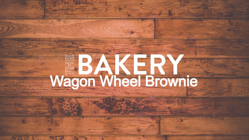 Wagon Wheel Brownie Slice