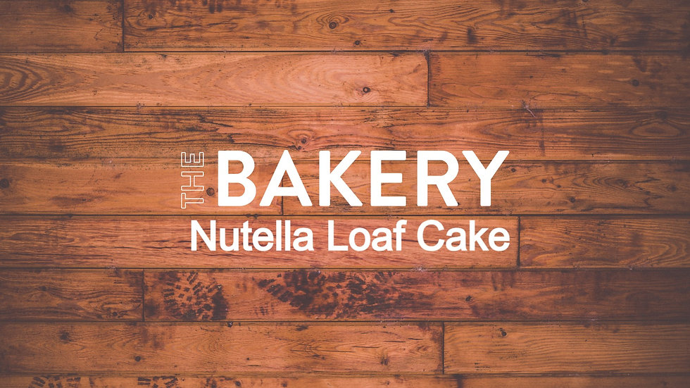Large Nutella Frosted Loaf Cake