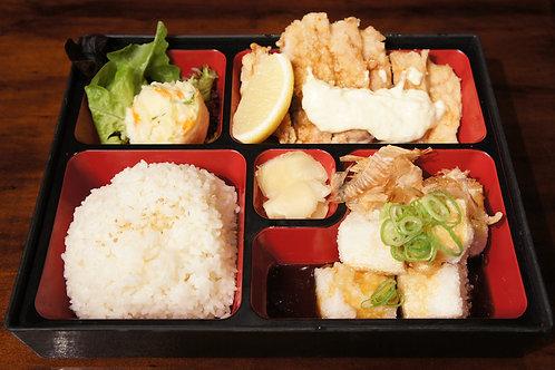Chicken Namban Bento Box (Rice, Miso soup)