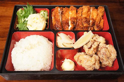 Chicken Bento Box (Rice, Miso soup)