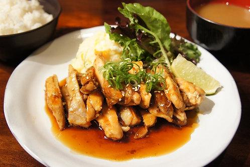 Teriyaki Chicken Plate (Rice,Miso soup)