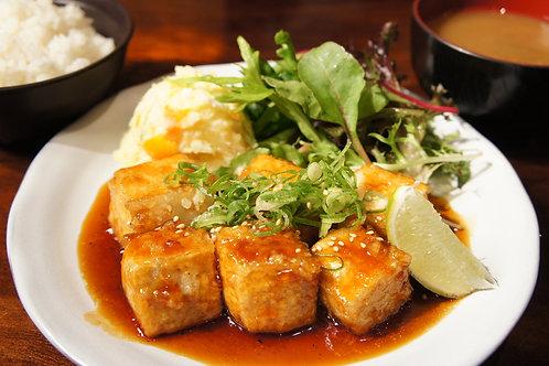 Teriyaki Tofu Plate (Rice,Miso soup)