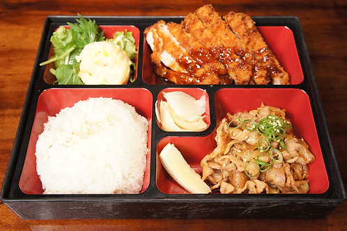Pork Bento Box (Rice, Miso soup)