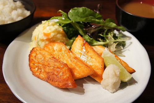 Salmon Fillet Steak Plate (Rice, Miso soup)