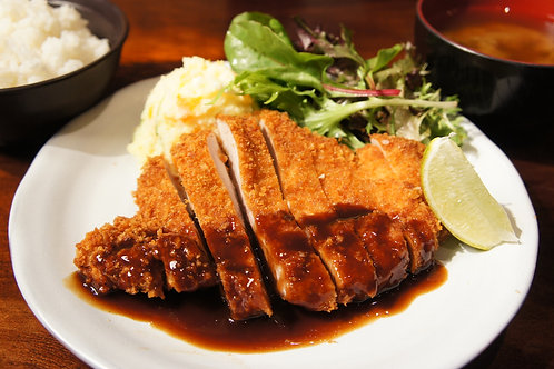 Chicken Katsu Plate (Rice, Miso soup)
