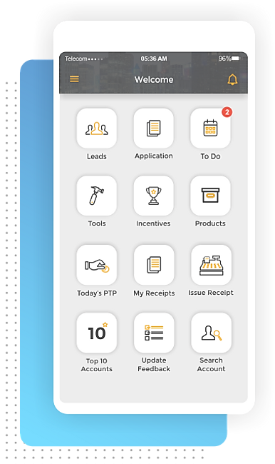 Enterprise Tiger mobile app for sales and collections