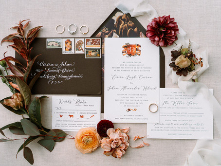 Emma & Johan's Fall Wedding with Custom Watercolor Illustrations