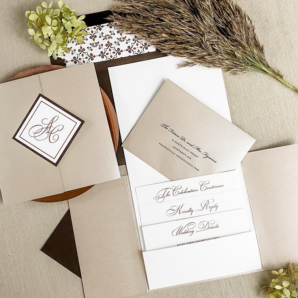 autumn themed wedding invitations