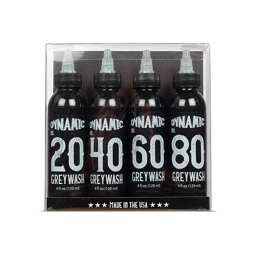Dynamic Greywash Tattoo Ink - 4 oz. Bottle Set