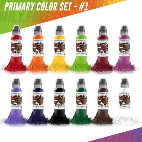 WORLD FAMOUS PRIMARY COLOR INK SET #1