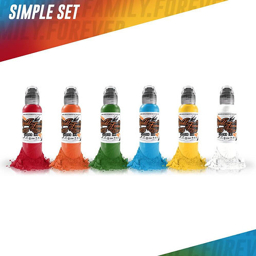 WORLD FAMOUS 6 COLOR SIMPLE SET - 1OZ.