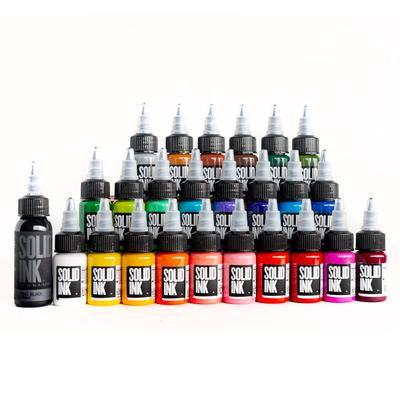 SOLID INK -- 25 COLOR TRAVEL SET | (24) HALF OUNCE + 1OZ LINING BLACK