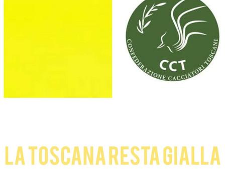 CCT: TOSCANA ZONA GIALLA PER LA TERZA SETTIMANA DI FILA!