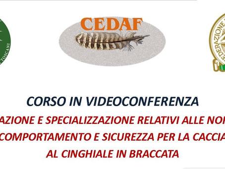 CCT: CONTINUA L'OFFEERTA FORMATIVA ONLINE PER I CACCIATORI