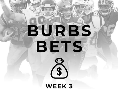 Burbs Betting: Week 3