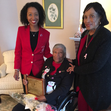 Nellie Quander with Melanie Carter and G