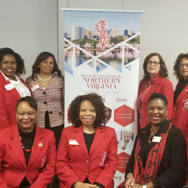 Scholarship Committee Sorors at the Alfred