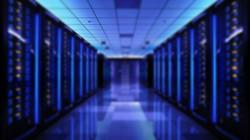 Server racks in server room data center. 3d render_edited