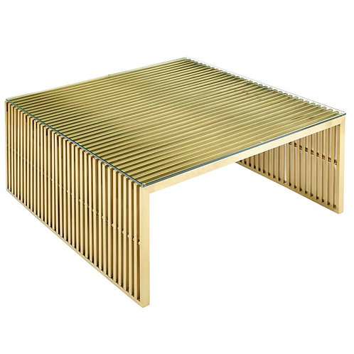 Stainless Steel Coffee Table in Gold