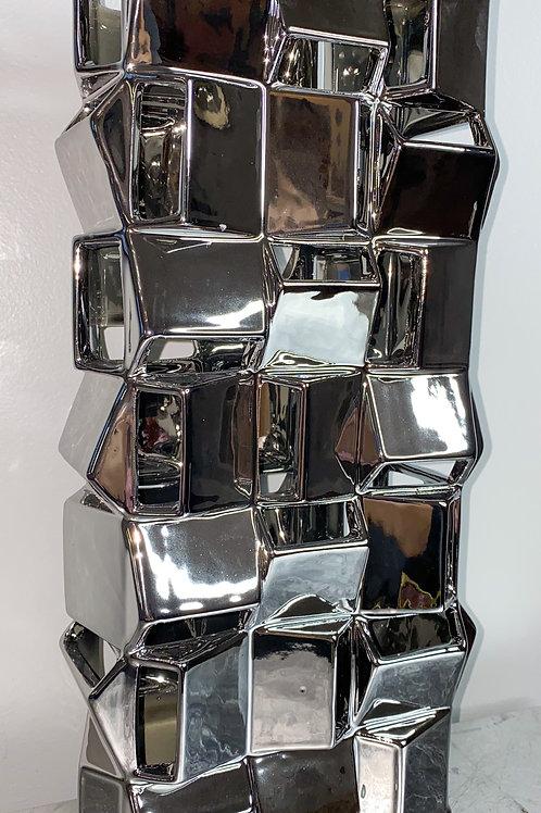 Silver Glam Vase